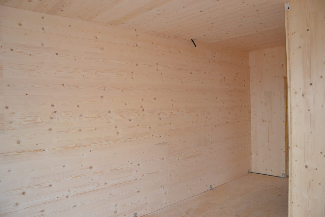 Holzmassiv BSP sichtbar
